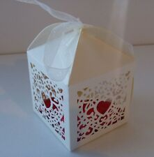 10xHEART BABY SHOWER CHRISTENING WEDDING PARTY FAVOUR BONBONNIERE BOXES