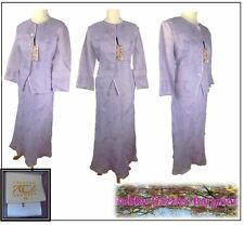 Country Casuals CC 3 piece Ladies silk outfit size 14 top,jacket skirt lavender