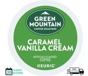 Green Mountain Caramel Vanilla Keurig Coffee K-cups YOU PICK THE SIZE