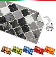 Tappeto cucina bagno piastrelle vintage antiscivolo corsia bordata mod.TAPIRO34