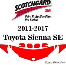 3M Scotchgard Paint Protection Film Pro Series 2011 - 2016 2017 Toyota Sienna SE