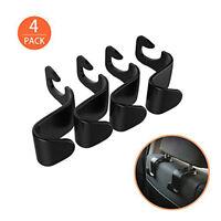4Pack Car Vehicle Back Seat Headrest Organizer Hanger Storage Hook For Bag Black