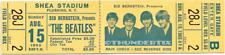 1  BEATLES VINTAGE UNUSED FULL CONCERT TICKET 1965 Shea Stadium NY laminated yel