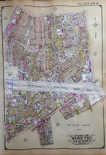 ORIGINAL 1929 E. BELCHER HYDE ATLAS MAP MASPETH QUEENS NEW YORK 20 X 27.5