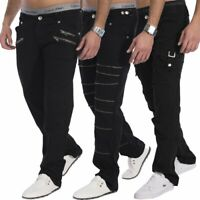 Herren Jeans Hose schwarz Punk Gothik Rockabilly Look (4 Versionen)