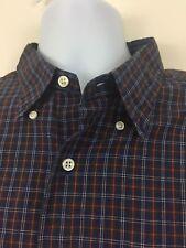 Lauren Ralph Green Label Long Sleeve Dress Shirt Button Up Plaid Checks 17 32/33
