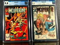 1989 Series WOLVERINE 9 & 10 Sabretooth Appearance CGC 9.8 White Pages NM/MT Lot
