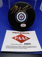Mark Scheifele Autographed Winnipeg Jets Puck COA
