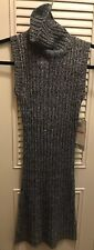 """NEW W TAGS Women's Turtle Neck Sweater Dress Size Small """"Morgan 4 Ever"""" Gray"""