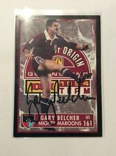 SIGNED GARY BELCHER NRL QLD STATE OF ORIGIN MIGHTY MAROONS