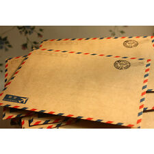 10* Hot Coffee kraft Air Mail Envelope Postcard Letter Stationary Paper