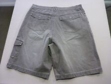 127 MENS EX-COND RUSTY RELAXED CHOC WASH DENIM CARGO SHORTS SZE 36 $100 RRP.