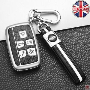 Car Remote Key Fob Cover Case Shell Key Ring for Land Rover Range Rover Jaguar X