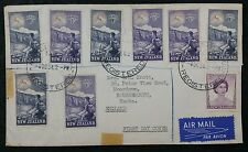 New Zealand 1954 Registered Airmail First Day Cover to Bournemouth, GB