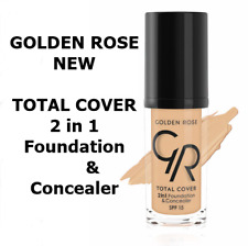 TOTAL COVER By Golden Rose 2in1 Foundation & Concealer Oil free Full Covearge