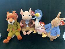 TY Beatrix Potter Mr Tod/Pigling Bland/Jemima Puddle-duck/Peter Rabbit Lot 2006