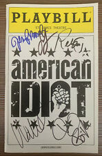 Green Day AMERICAN IDIOT Playbill SIGNED by Broadway Cast + BILLY JOE ARMSTRONG!