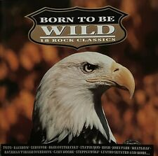 Born To Be Wild - 18 Rock Classics - Various Artists - Original 1993 CD Disc.