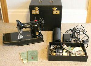 Singer 221K Sewing Machine Plus Accessories