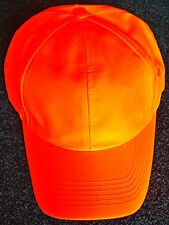 NEON ORANGE SAFETY REFLECTIVE HI VISIBILITY CONSTRUCTION WORKER FIELD CAP HAT OS