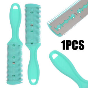 Professional Hair Cutter Thinning Shaper Comb 2 Razor Blades Double Sided