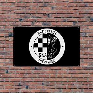 Music Is Life - SKA 5x3ft Banner
