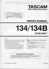 TASCAM 134/134B SYNCASET Service Manual PDF download