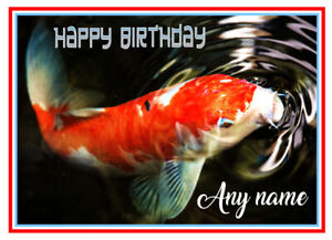 PERSONALISED KOI CARP FISHKEEPERS QUALITY BIRTHDAY/OTHER CARD FREE POST