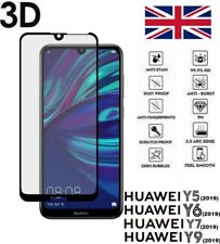 For Huawei Y5 Y6 Y7 Y9 2019 Screen Protector 3D TEMPERED GLASS Black Edge Clear