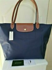New Longchamp Le Pliage Tote Bag Nylon Large Shopping Handbag Navy Blue L