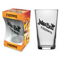 JUDAS PRIEST BIERGLAS / BEER GLASS # 1 FIREPOWER - PINT 570 ml