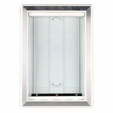 Original Plastic Dog Door w/ Aluminum Lining Soft Flap Large 2-way Locking White