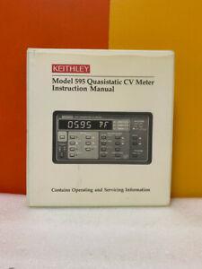 Keithley 595-901-01 Model 595 Quasistatic CV Meter Instruction Manual