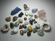 CRYSTAL  MINERAL collection  30+ pieces 490g - Agate, Spirit Quartz, Lapis. Nice