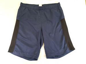 Nike Swim Shorts Mens Medium Dark Navy Blue Lined Drawstring Board Trunks Beach