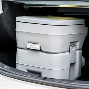 8.5 Gallon Portable Toilet Flush Travel Camping Commode Potty Outdoor/Indoor