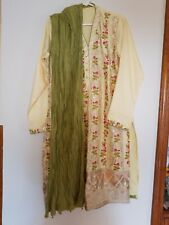 Pakistani embroidered 3pc salwar kameez in silk fabric