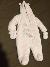 Lovely Warm Rosa Traje Para Nieve Bebé Niña 0-3 meses