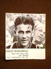 Il ciclismo in Italia negli anni '30 Il ciclista Diego Marabelli