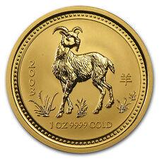 2003 Australia 1 oz Gold Lunar Goat BU (Series I) - SKU #8972
