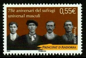 2008 Andorra, French Administration, Scott #643  Male Suffrage MNH stamp