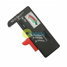 Universal Probador De Baterías Aa Aaa C D 9v Pila de botón Checker voltios Tester Hot