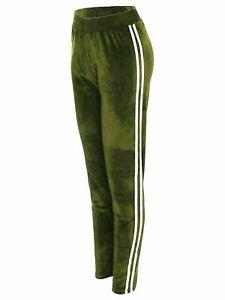Leggings Joggers Lounge Pants Velour Ladies Women Velvet Tracksuit Bottoms NEW