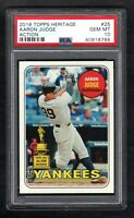 2018 Topps Heritage #25 AARON JUDGE Action Yankees PSA 10 Gem Mint