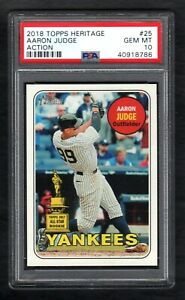 2018 Topps Heritage #25 AARON JUDGE Action All-Star Rookie PSA 10 GEM MINT