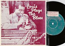 Louis Armstrong ORIG OZ Promo EP Louis plays the blues EX '58 Parlophone Jazz