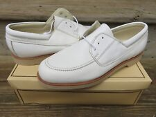 NEW Hanover Lite Sport Dress Shoes White Size 10 M New Old Stock Leather