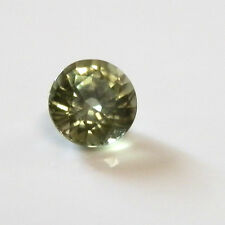 Natural Australian earth-mined green round sapphire gem..0.4  carat