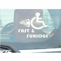 Fast and Furious-Funny Joke Disabled Car,Van Sticker-Disability Mobility Sign