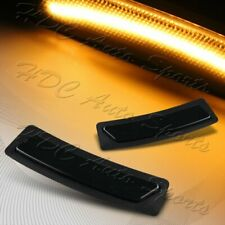 For 2016-19 BMW 3 4-Series Amber LED Smoke Bumper Turn Signal Side Marker Lights